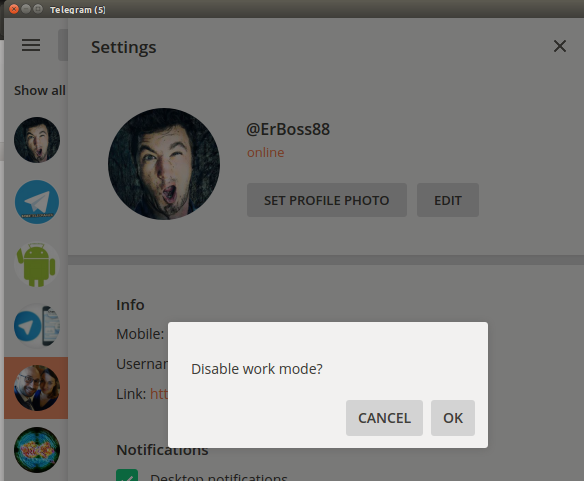 workmode-telegram-disattivazione