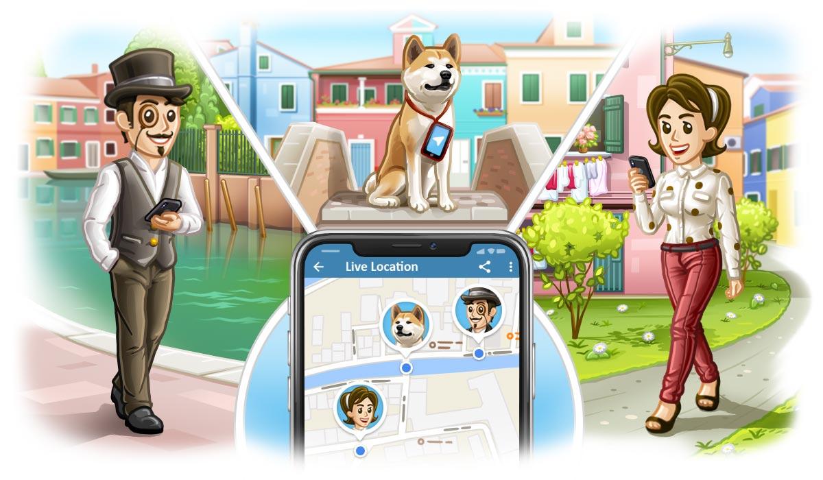 Telegram 4.4: posizione in tempo reale, un nuovo media player e nuove lingue