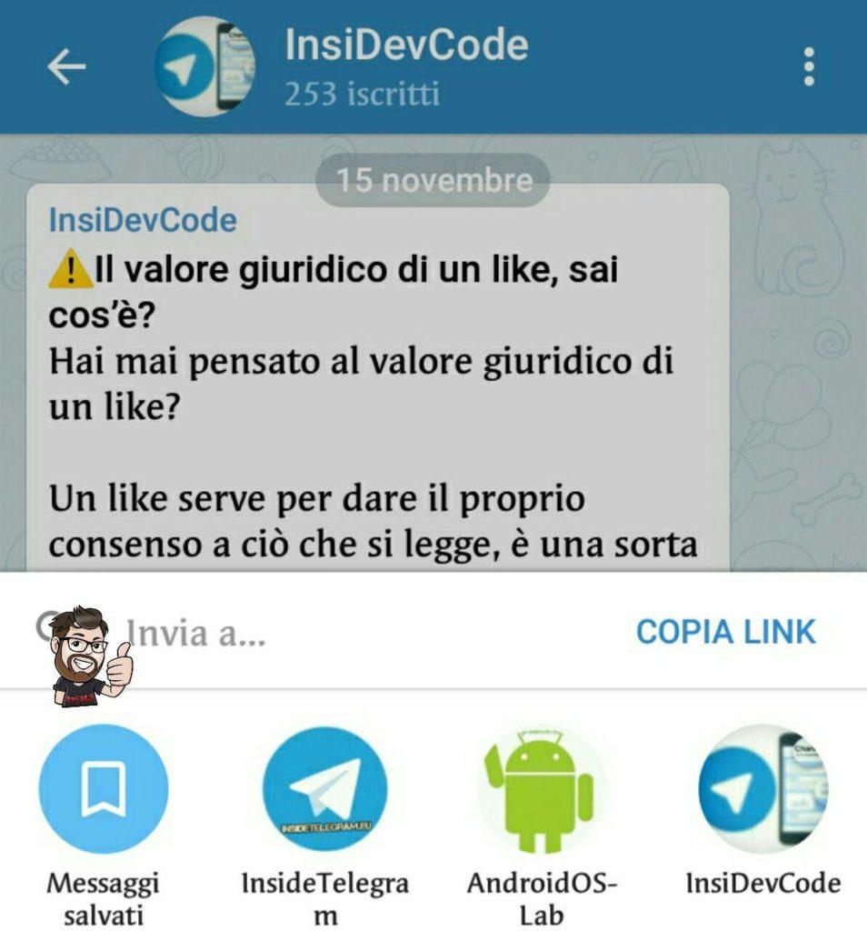 telegram 4.5 messaggi salvati