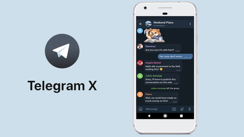 Telegram X per Android