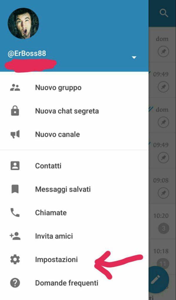 Come disattivare in Telegram il download automatico - impostazioni