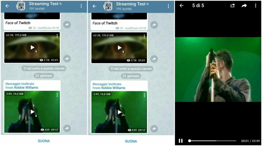 Telegram 4.8-streaming video