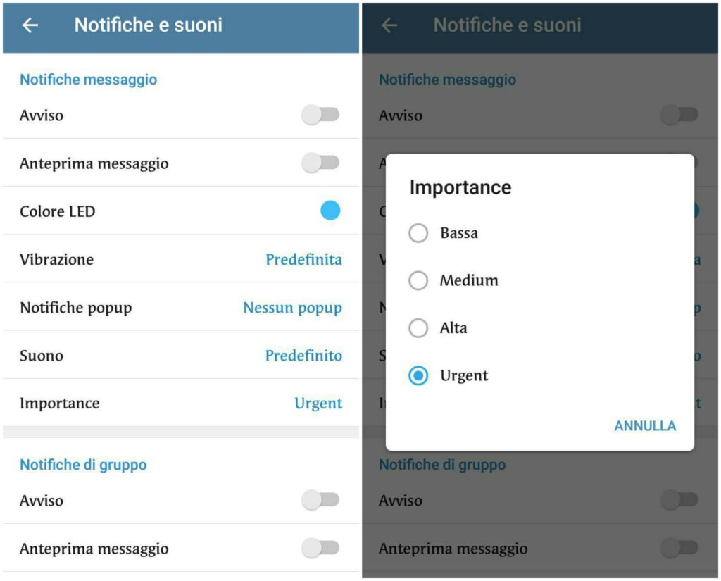 telegram 4.8 beta-notifiche