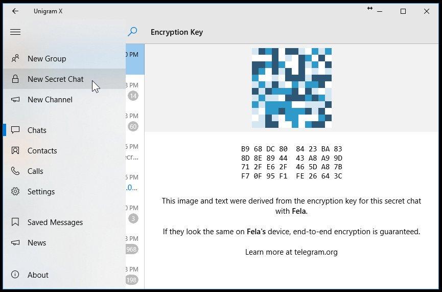 unigram x chat segrete