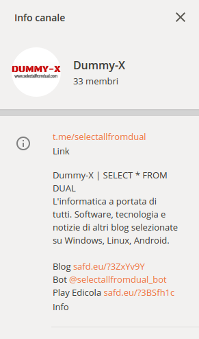 canale telegram di qualità