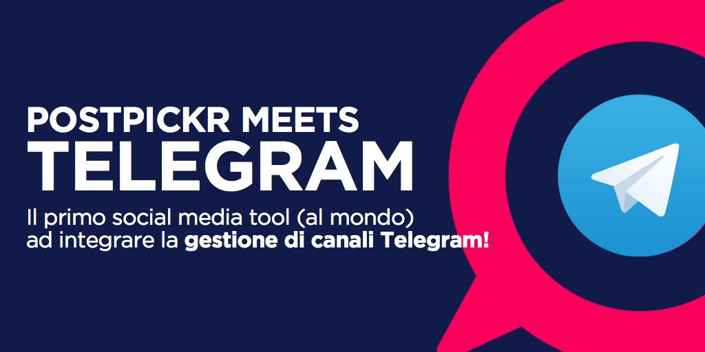 Amministra il tuo canale Telegram con PostPickr