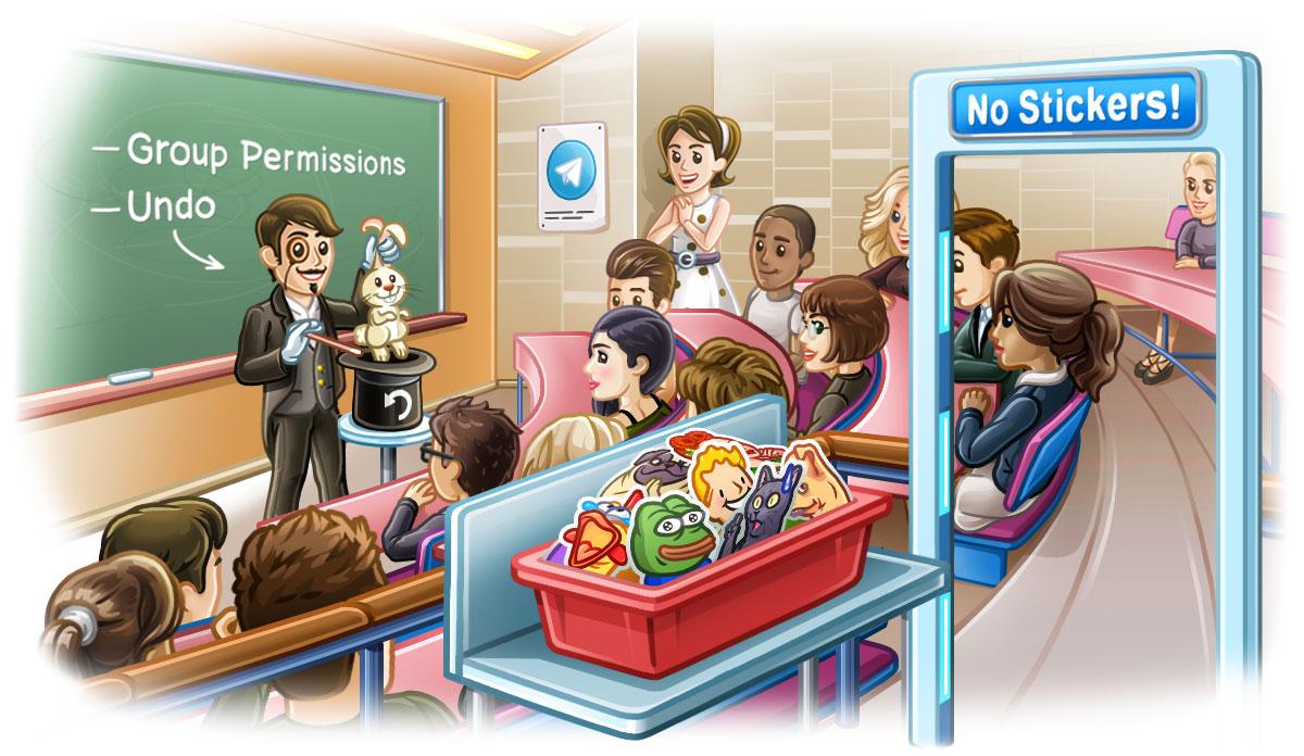 Telegram 5.2 per Android e iOS: permessi per gruppi e piccoli ritocchi grafici