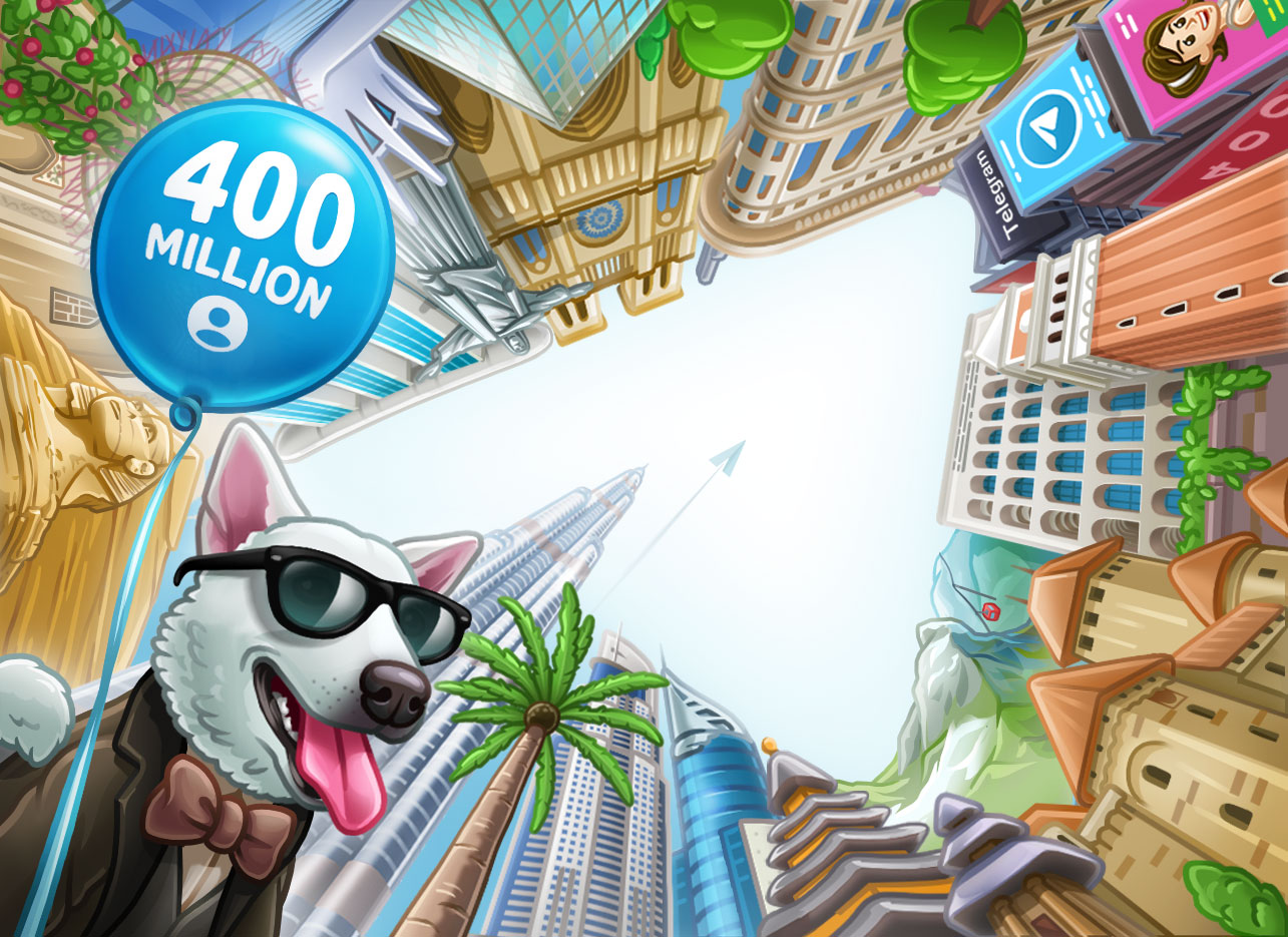 Telegram 400 million active users