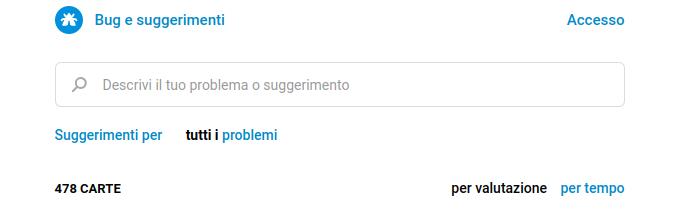 Piattaforma Telegram Bug e suggerimenti