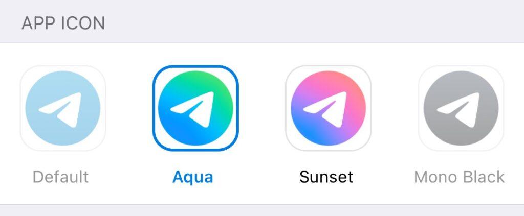 Telegram 7.8 per iOS icone semi-trasparenza e nuove icone